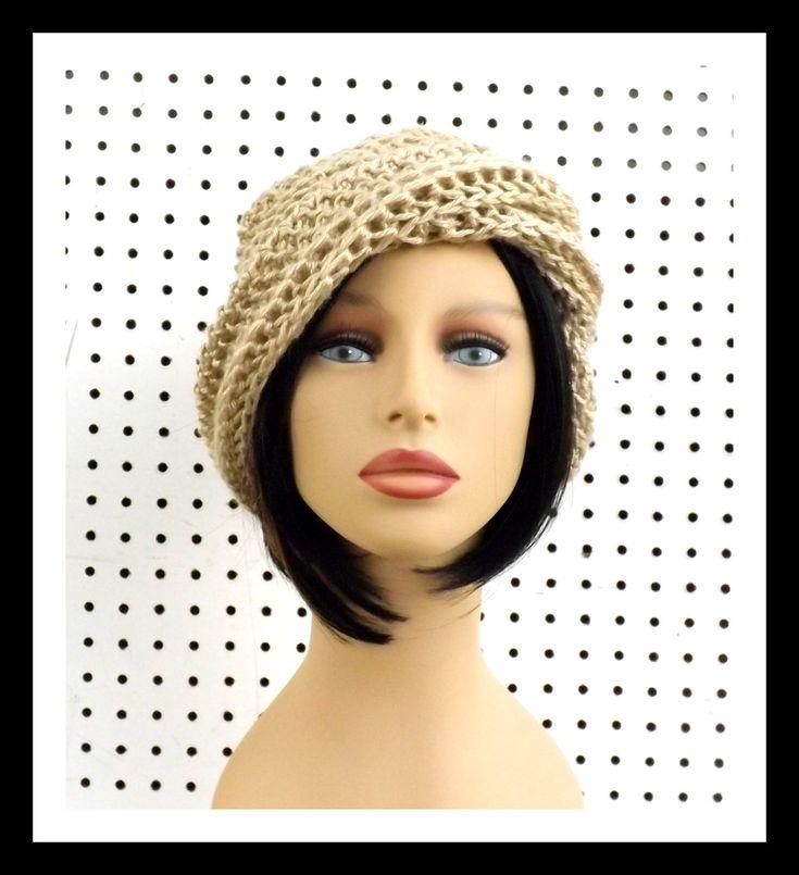 Crochet Hat Womens Hat OMBRETTA Crochet Beanie Hat Bone Hat by strawberrycouture on Etsy 40.00 USD