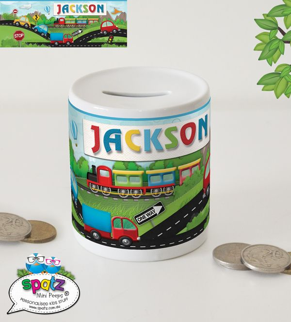 Personalised Kids Money Boxes Piggy Banks