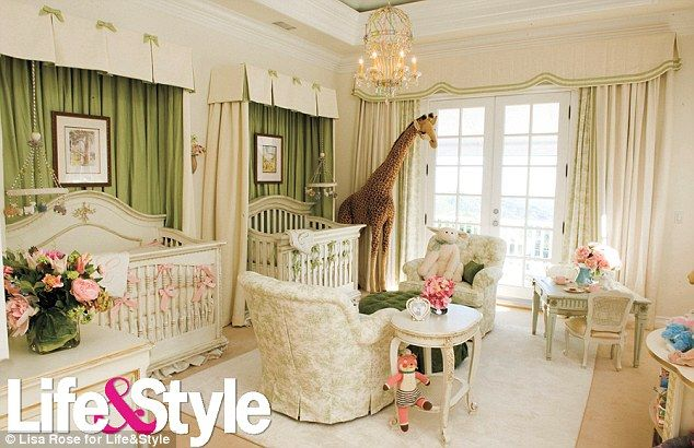 I was expecting pink and butterflies, but I have to say Mariah Carey's baby room is sweet and classy
