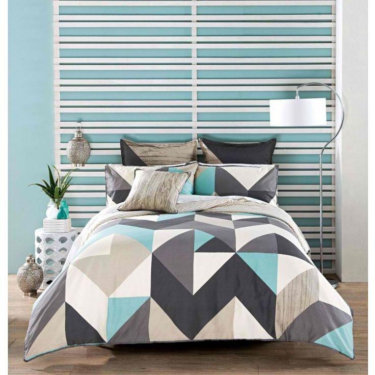 Linen House Equinox Smoke Quilt Cover Set | Bedrooms | Pinterest