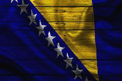 Bosnia Flag Art - Bosnia  by Joe Hamilton