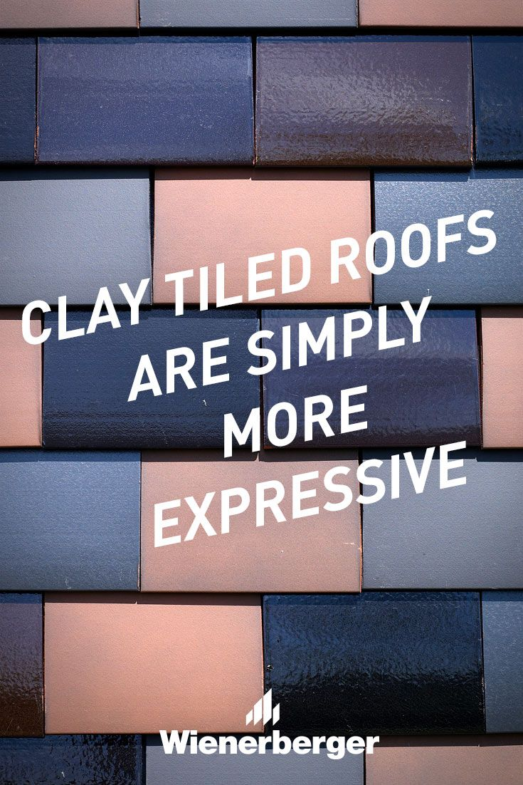 Clay tiled roofs are simply more expressive