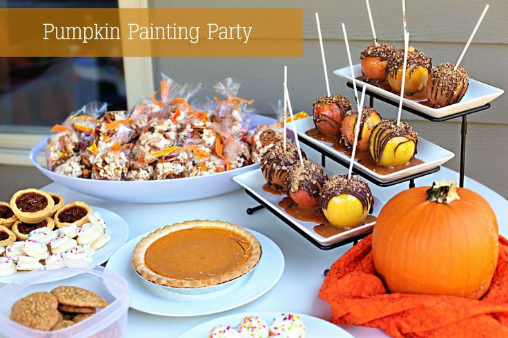 pumpkin painting party!!