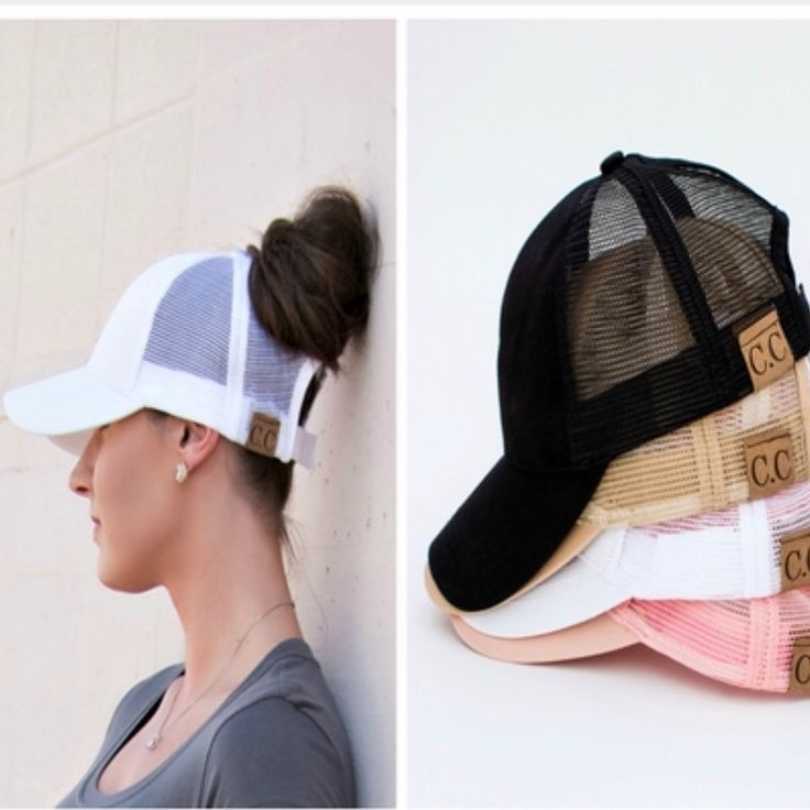 Today's fresh pick! The bun hat! Say goodbye to bad bun days! Link in bio. #pickyourplum #bunhats #style #fashion  https://pickyourplum.com/#/products/cc-top-knot-trucker-hats/66339a4d