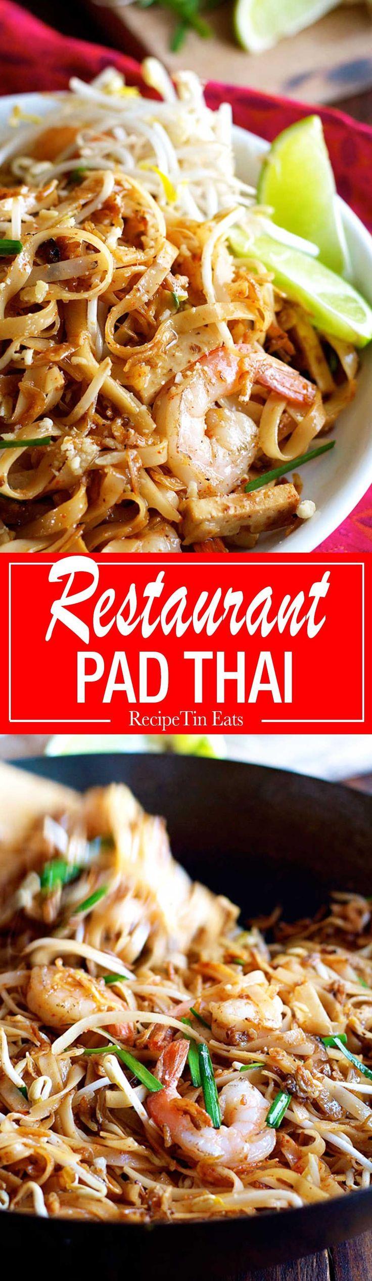 Finalement!  Une recette Pad Thai qui goûte EFFECTIVEMENT comme ce que vous obtenez dans les restaurants!  Sooooo bon, tout le monde se moquait de cette terre!