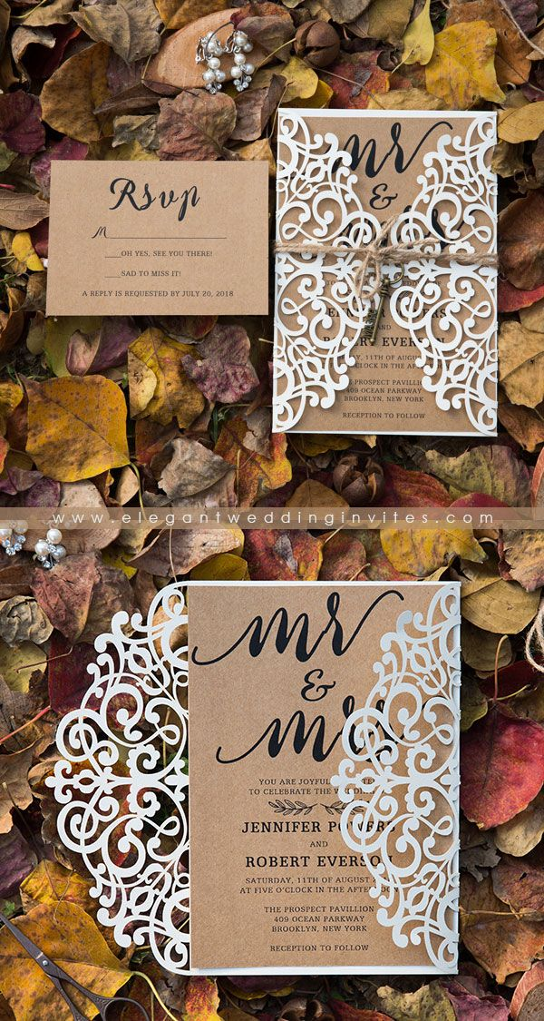 Rustic Wedding Invitations With Response Cards Elegantweddinginvites Wedding Invitations Diy Rustic Cricut Wedding Invitations Fall Wedding Invitations