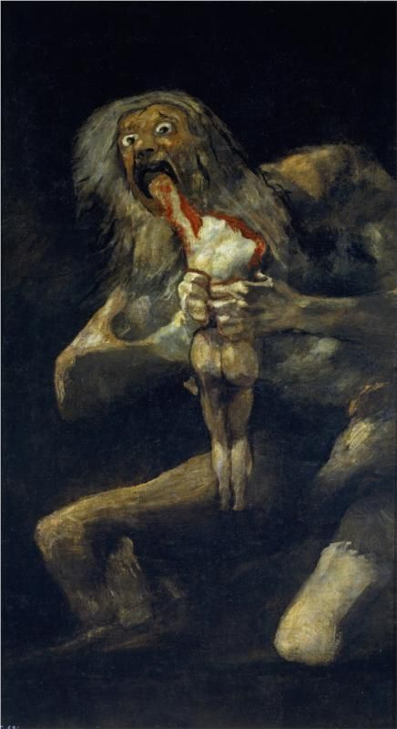 """Saturn Devouring His Son"" - Francisco Goya"