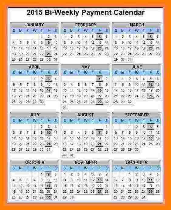 5 bi weekly payroll calendar sles of paystubs Administrator
