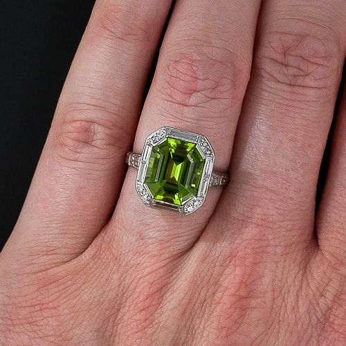 Peridot Art Deco Ring