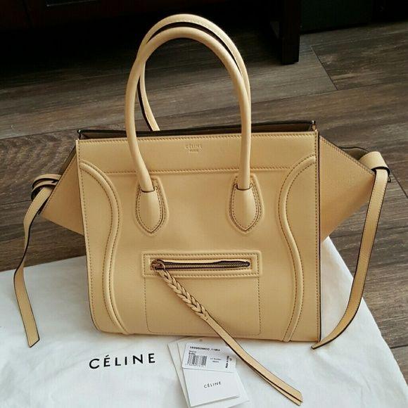 Celine Phantom Med Tote, Butter Calfskin w/dustbag   Yellow ...
