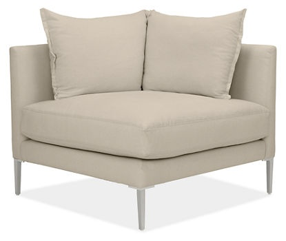 Vela Corner Chair   Extra Deep With Down Cushions