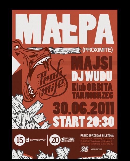 Poster - Malpa(PROXIMITE) by Grzegorz Rauch, via Behance