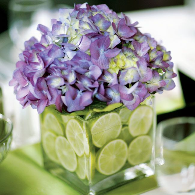 Lime centerpiece g wedding planning memories