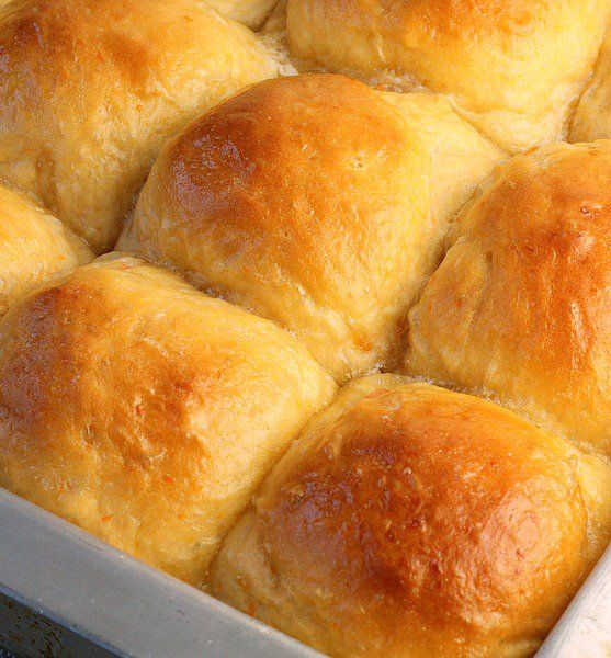 Sweet Potato Dinner Rolls are very fluffy,soft and delicious! The recipe was extremely easy to make using either fresh or canned mashed sweet potatoes.