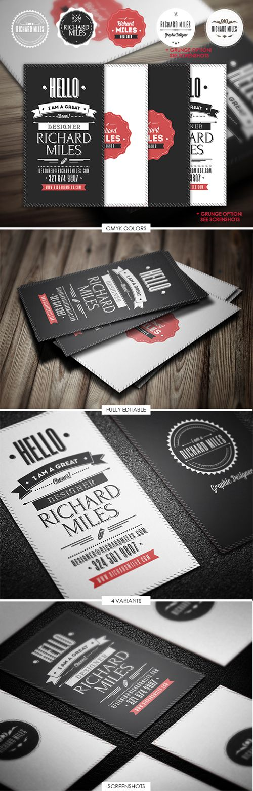 61 best business card templates images on pinterest creative 25 modern and unique business cards design reheart Images