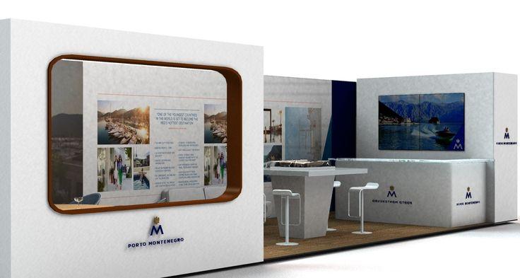 Sezione progetto Stand Porto Montenegro.