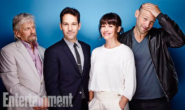 Michael Douglas, Paul Rudd, Evangeline Lilly, and Corey Stoll, Ant-Man. See more stunning star portraits from our photo studio at San Diego Comic-Con 2014 here: http://www.ew.com/ew/gallery/0,,20399642_20837151,00.html