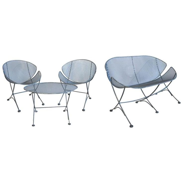 Maurizio Tempestini For Salterini Four Piece Clamshell Patio Set