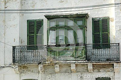 Ancient windows and terraces in Malta