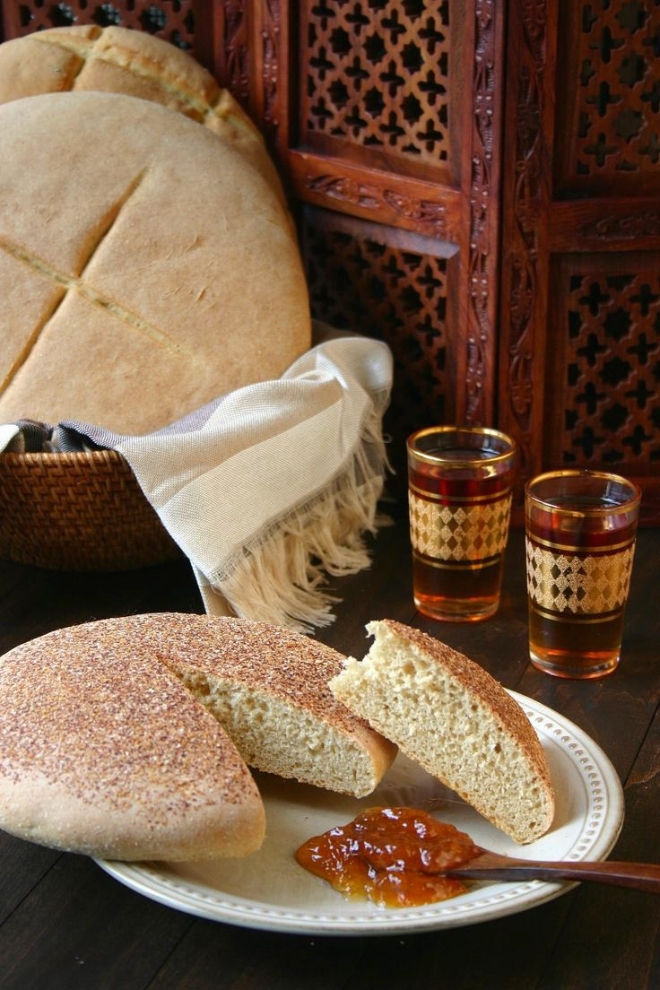 A simple recipe for traditional Moroccan Bread - Khobz Kesra. Hearty and versatile, this bread can be made with white or whole wheat flour.
