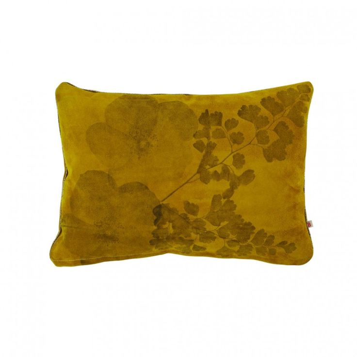 Bonnie and Neil Maidenhair-Floral-Yellow-Suede-50x35cm