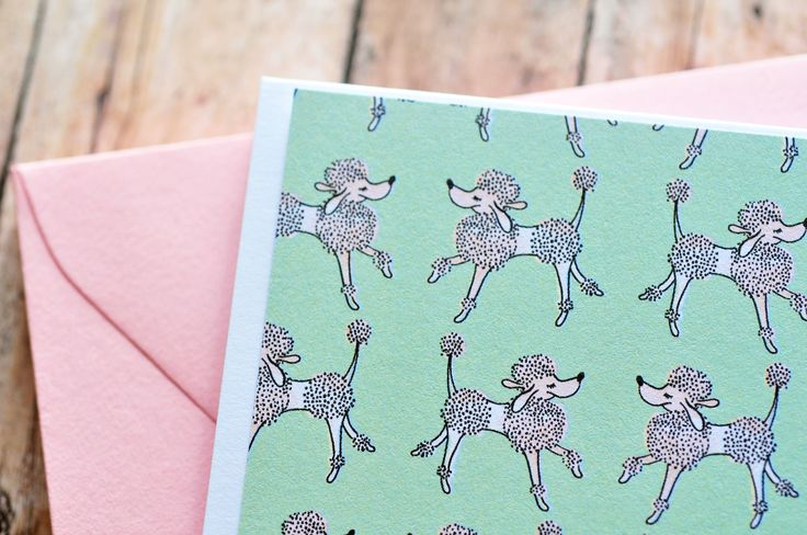 French Poodle Note Cards // Set of 6 // Dog Note Cards // Staionary Set // Poodle Note Cards by whoiamdesign on Etsy