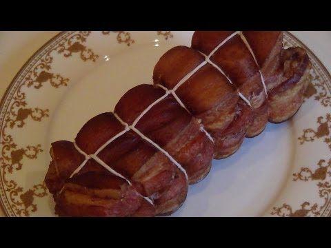 Правильная обвязка сала, мяса, рыбы перед копчением. - YouTube