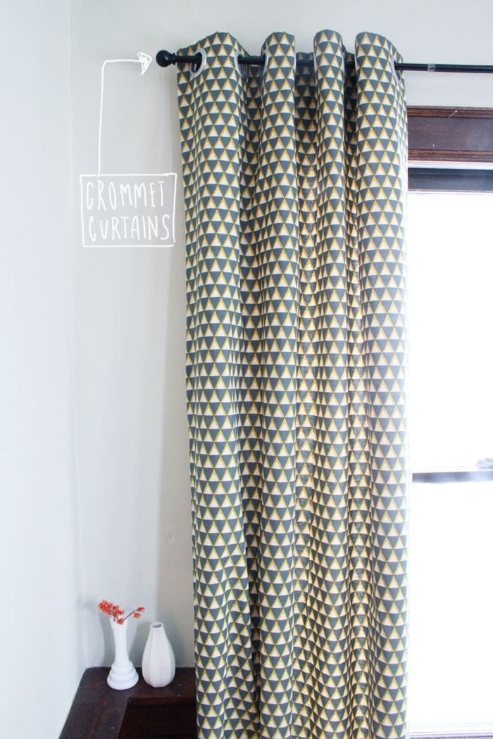 Tutorial : DIY Grommet Curtains