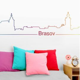 Sticker decorativ Brasov Rainbow
