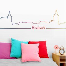Sticker decorativ Brasov Rainbow