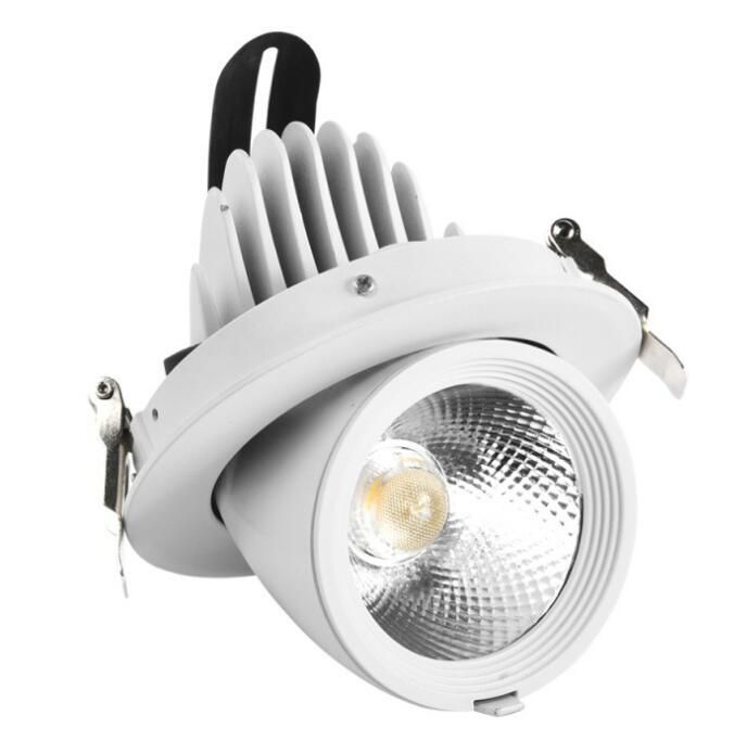 7w 10w 20w 30w 40w 50w Available Cob 360 Rotatable Recessed Ceiling Light Led Gimbal Adjustable Led Dow Recessed Spotlights Ceiling Lights Flush Light Fixture