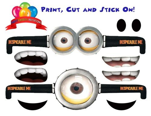 Despicable Me Minion Eye Goggles for Party Favors, Balloons, Treat Bag