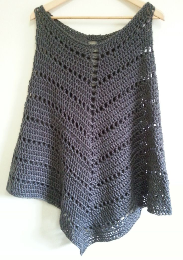 PDF pattern Chunky Poncho by Addicted2theHook on Etsy