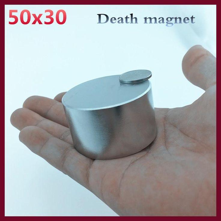 1pcs Neodymium magnet 50x30 mm gallium metal super strong magnet 50*30 Neodimio magnets powerful permanent magnet N35 N52