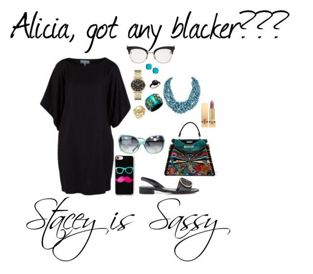 """""""Alicia, got any blacker???"""" by staceyissassy on Polyvore featuring Whistles, Chanel, Humble Chic, Fendi, Marc by Marc Jacobs, Casetify, Alexis Bittar, Pomellato, Thom Browne and Yves Saint Laurent"""