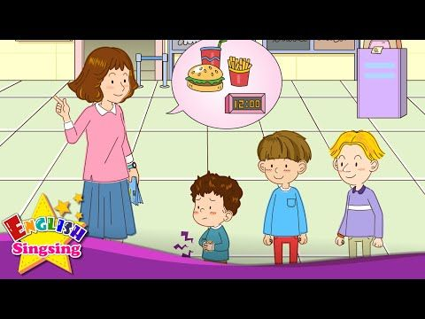 [Time] What time is it? We're late. - Easy Dialogue - English educational animation with subtitles. - YouTube