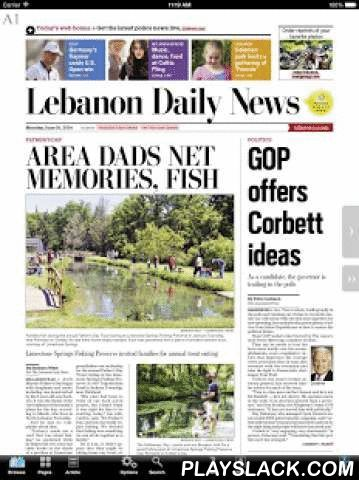 Lebanon Daily News EEdition  Android App - playslack.com , The Lebanon Daily News electronic edition app lets subscribers read their favorite paper on an Android device with all the stories, ads and photos shown exactly as it appears in print. The app uses Multi-touch features to provide an easy and natural paper-like reading experience. An active subscription is required to view the app.