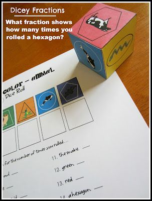 Dicey Fractions. Free printable die and recording sheet.: Records Sheet, Homeschool Awesome, Fractions Cool Blog, Fractions Games, Dicey Fractions, Homeschool Math, Fractions Dice, Relentlessly Fun, Deception Education