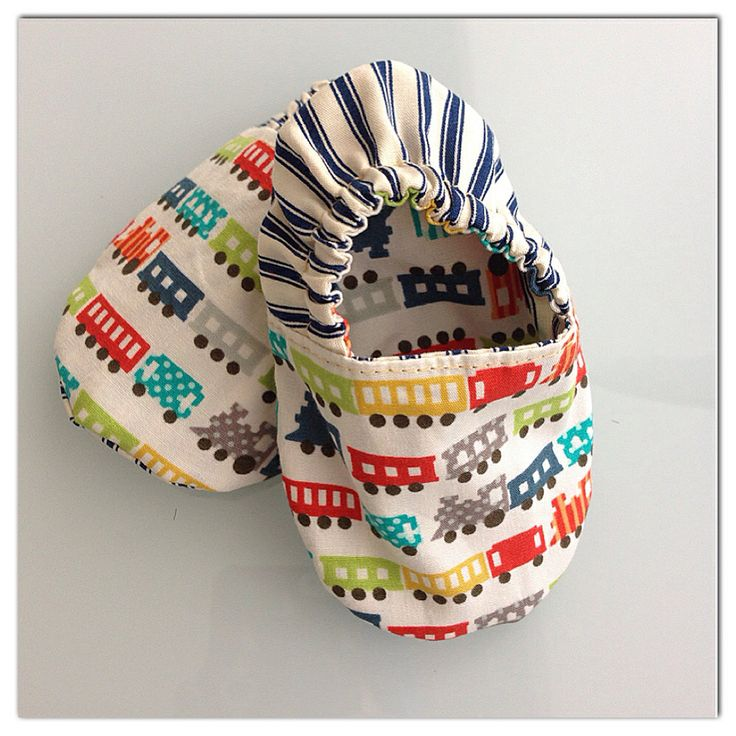 Handmade reversible fabric baby shoes available up to size 18 months