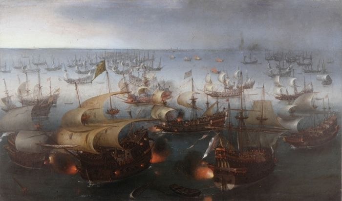 Battle between England and Spain 1601