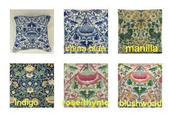 Sanderson Fabrics - William Morris- Lodden- All Colours & many sizes Piped Cushion/pillow Covers