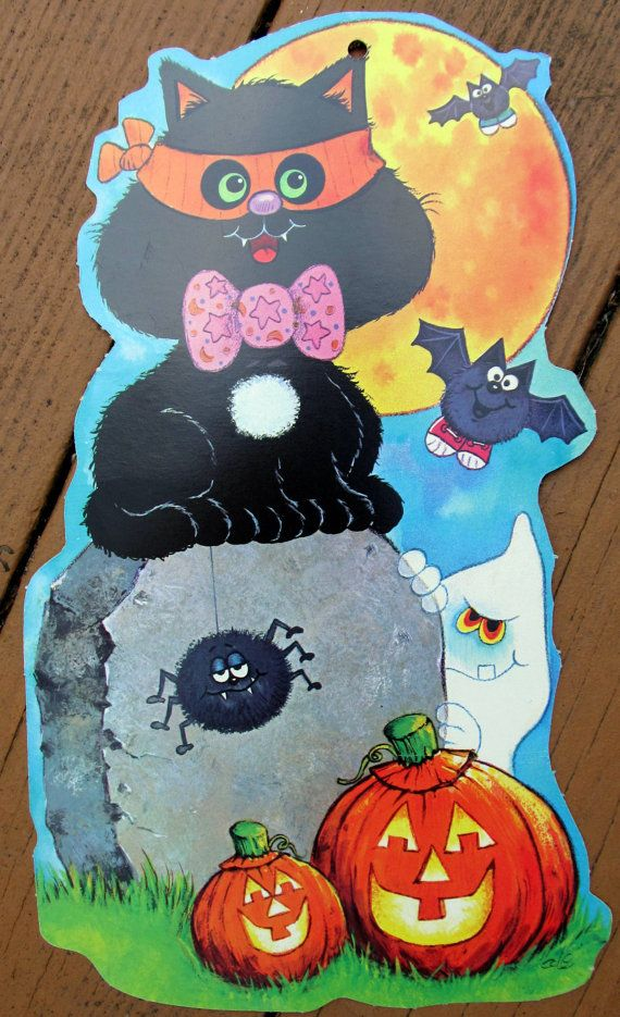 217 best Retro/Vintage Halloween Decorations images on ...