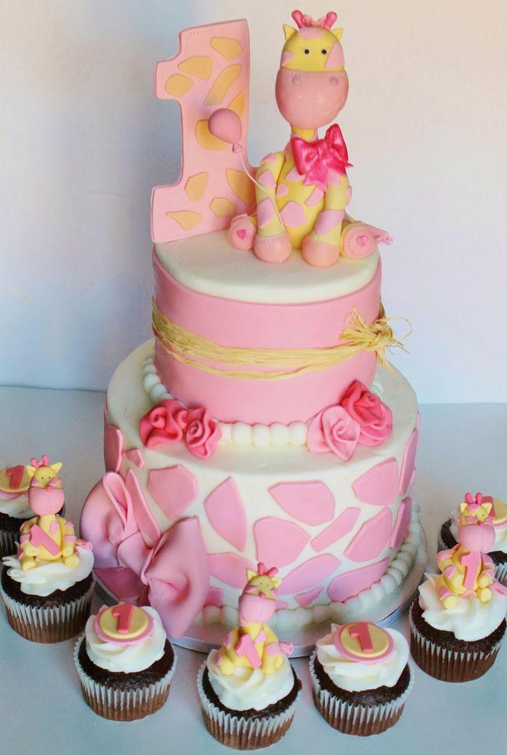 Pink Giraffe Cake
