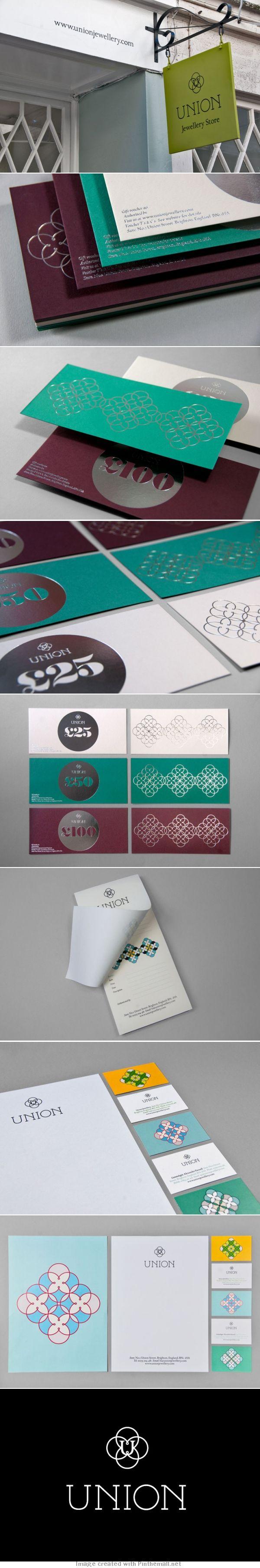 Union jewellery branding by Red Design