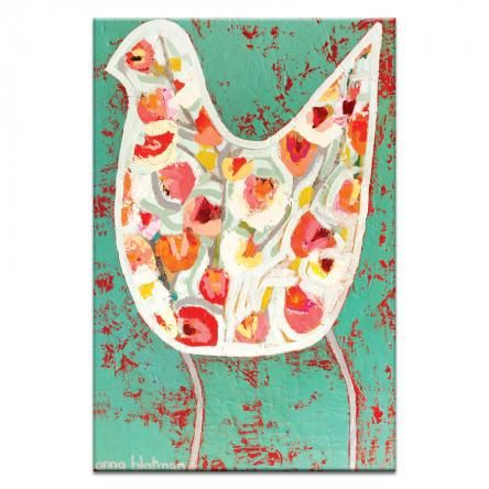 Flower Bird | Anna Blatman | Canvas or Print