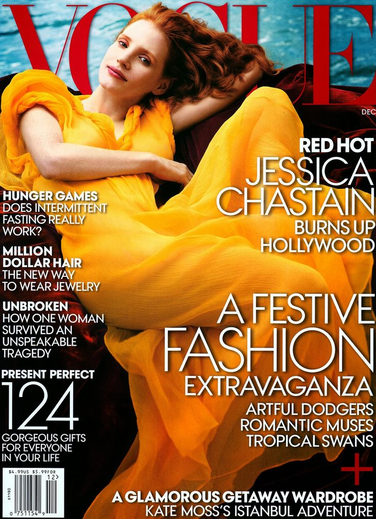 Jessica Chastain for Vogue Magazine Cover US, December, 2013 ~ Photo by Annie Leibovitz