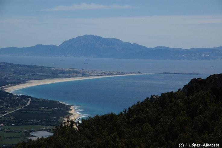 Vista de #Tarifa desde la Sierra de San Bartolome