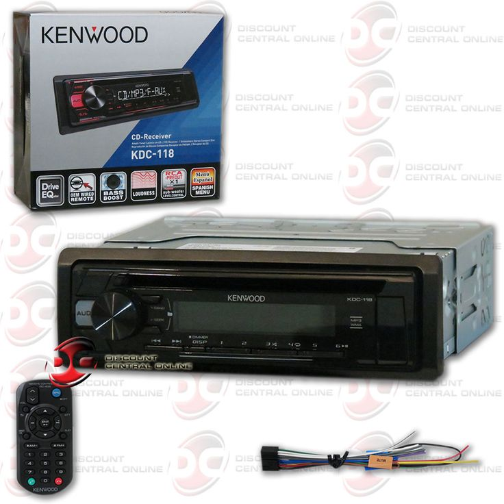 Car Audio In-Dash Units: Kenwood Kdc-118 1-Din Car Audio Cd Receiver Am Fm Stereo W Front Usb Aux Input -> BUY IT NOW ONLY: $59.99 on eBay!