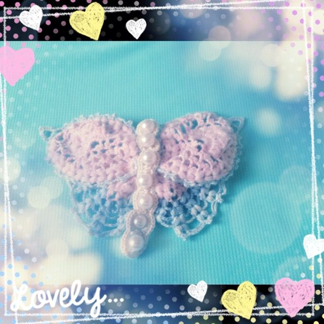 butterfly crochet hair accessory