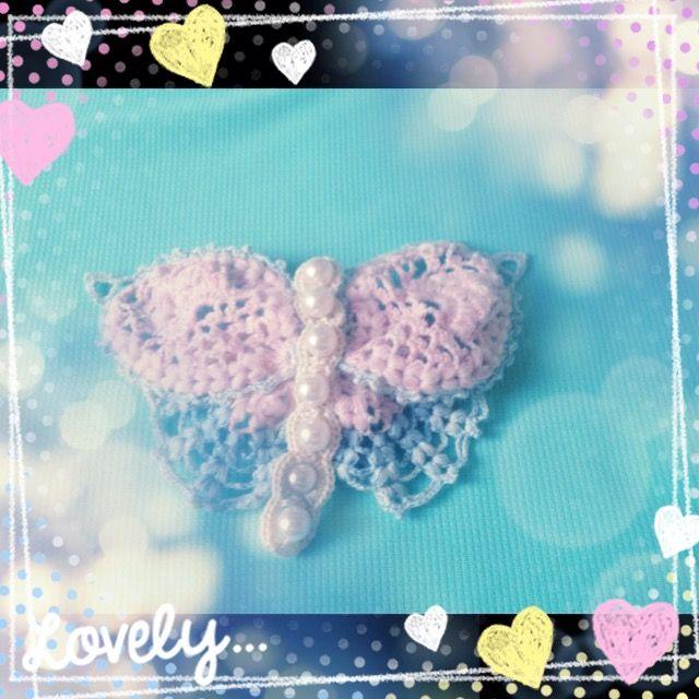 butterfly crochet hair accessory